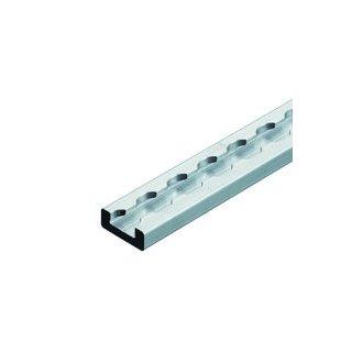 Verzurrschiene rechteckig aus Aluminium (metrisch)