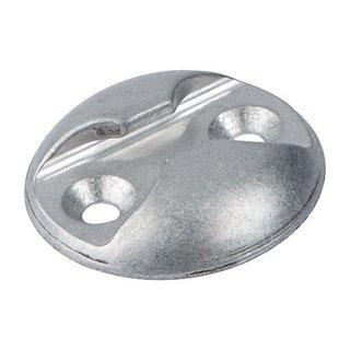 Verzurrplatte rund, aus Aluminium, natureloxiert