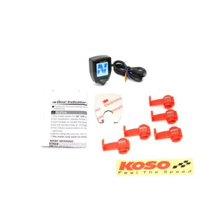 KOSO Mini Style Gear meter with shift light