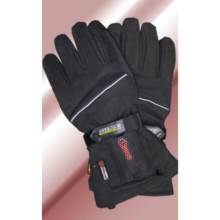 Gerbing heated outdoor leather gloves with 7 volts batteries and charger