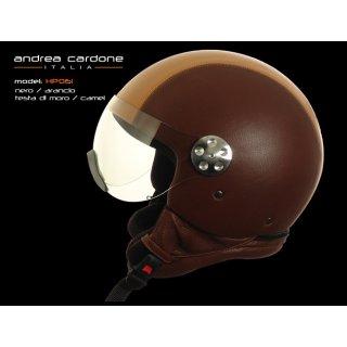 Andrea Cardone brown camel HP helmet